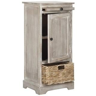 safavieh raven vintage white grey tall storage unit option amh5703f