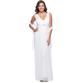 DFI Women's Long Evening Gown Small Size in Ivory (As Is Item)