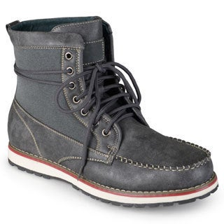 Vance Co. Men's Distressed Lace-up Mock Toe Work Boots