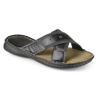 Vance Co. Men's Casual Faux Leather Sandals