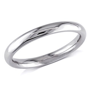 Miadora 14k White Gold Comfort-fit Wedding Band