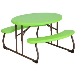Lifetime Children's Live Green Oval Picnic Table