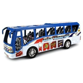 Velocity Toys City Power Bus Friction Toy Bus Ready To Run No Batteries Required (Colors May Vary)