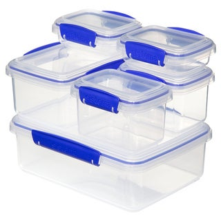 Sistema Klip It Rectangular Storage Containers 6-pack