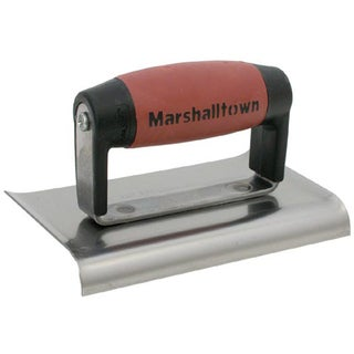 "Marshalltown 138SSD 4"" X 6"" Curved End Stainless Steel Edgers"