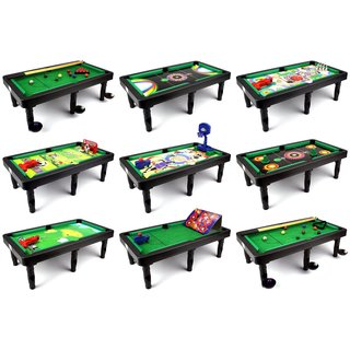 Velocity Toys Ultimate 9-in-1 Novelty Table Top Arcade Games Toy Play Set with Table and Accessories