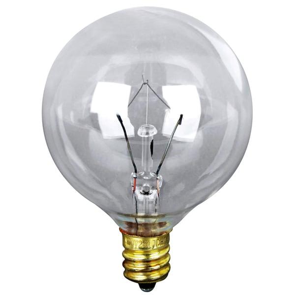 Vanity Light Bulbs Clear : Feit Electric BP40G16-1/2 40 Watt Clear Long Life Vanity Globe Light Bulb 2-count - Free ...