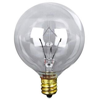 Feit Electric BP40G16-1/2 40 Watt Clear Long Life Vanity Globe Light Bulb 2-count