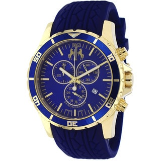 Jivago Men's JV0123 Ultimate Round Blue Silicone Strap Watch
