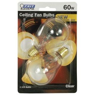 Feit Electric BP60A15N/CL/CF 60 Watt Clear Ceiling Fan Light Bulb 2-count