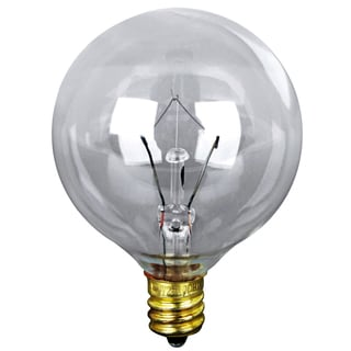 Feit Electric BP60G16-1/2 60 Watt Clear Long Life Vanity Globe Light Bulb 2-count