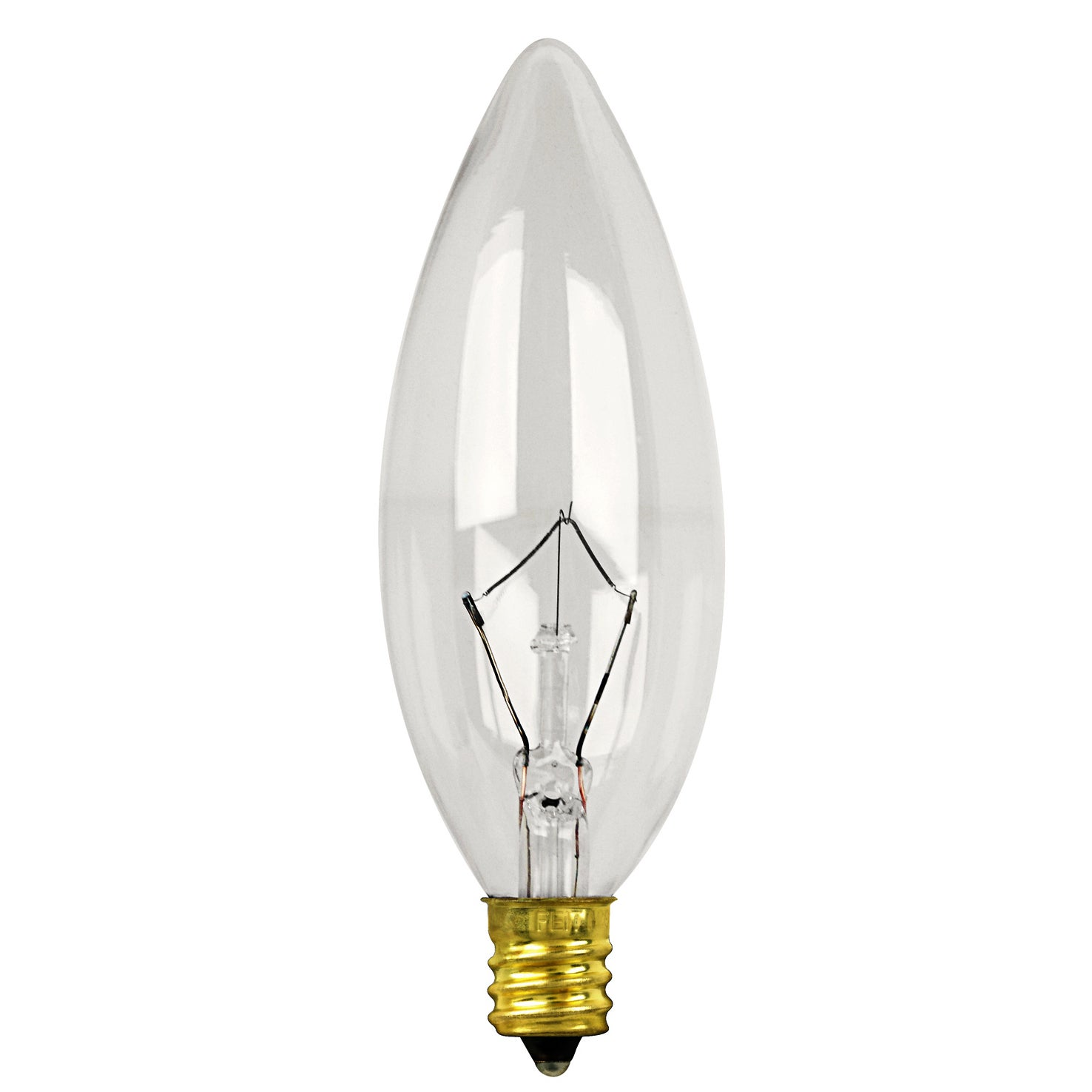 FEIT Electric BP60CTC 60 Watt Clear Straight Tip Chandeli...