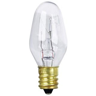 Feit Electric BP7C7 7 Watt Clear Long Life Night Light Bulbs 2-count
