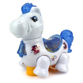 Velocity Toys My Galloping Pony Battery Operated Bump and Go Toy Horse with Fun Flashing Lights and Sounds