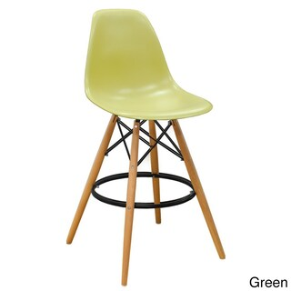 Mod Made Mid Century Modern Style Paris Tower Barstool (Set of 2) (Option: Green)