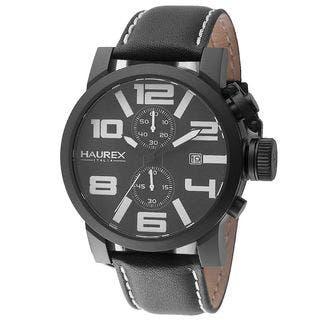 Haurex Italy Turbina II Men's Black Watch|https://ak1.ostkcdn.com/images/products/11634770/P18568416.jpg?impolicy=medium