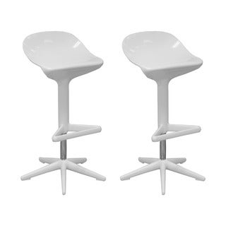 Mod Made Modern Adjustable Plastic Starfish Bar Stool (Set of 2)