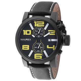 Haurex Italy Turbina II Men's Black Watch|https://ak1.ostkcdn.com/images/products/11634784/P18568417.jpg?impolicy=medium