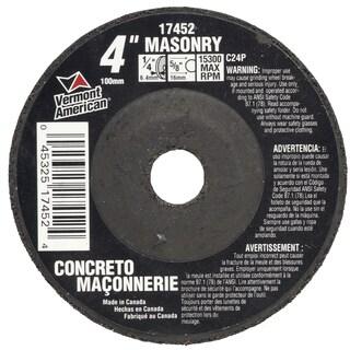 "Vermont American 17452 4"" Masonry Grinding Wheel"