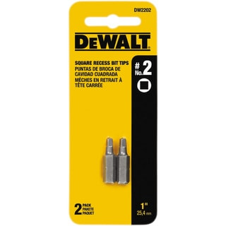 "Dewalt DW2202 #2 1"" Square Recess Power Bits 2-count"