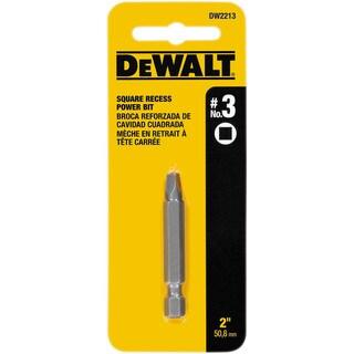 "Dewalt DW2213 2"" #3 Square Recess Power Bits"