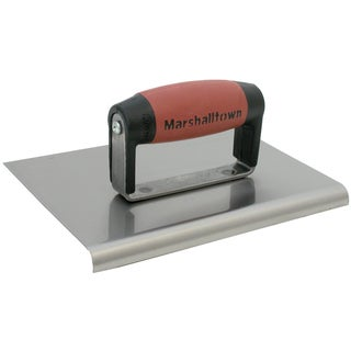 "Marshalltown 155SSD 6"" X 4-1/4"" Stainless Steel Curved Edger"