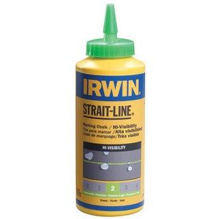 Irwin Strait Line 64907 8 Oz Fluorescent Green Chalk Refills