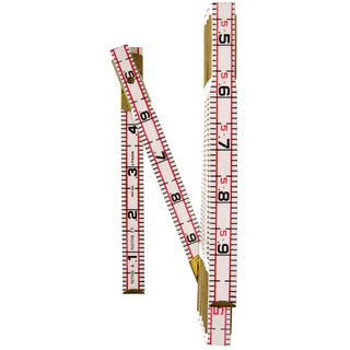 "Lufkin 1066DN 6' X 5/8"" Engineer's Scale Wood Rule Red End"