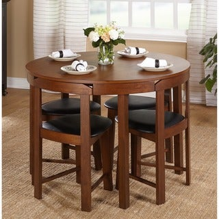Simple Living 5-piece Tobey Walnut Compact Dining Set