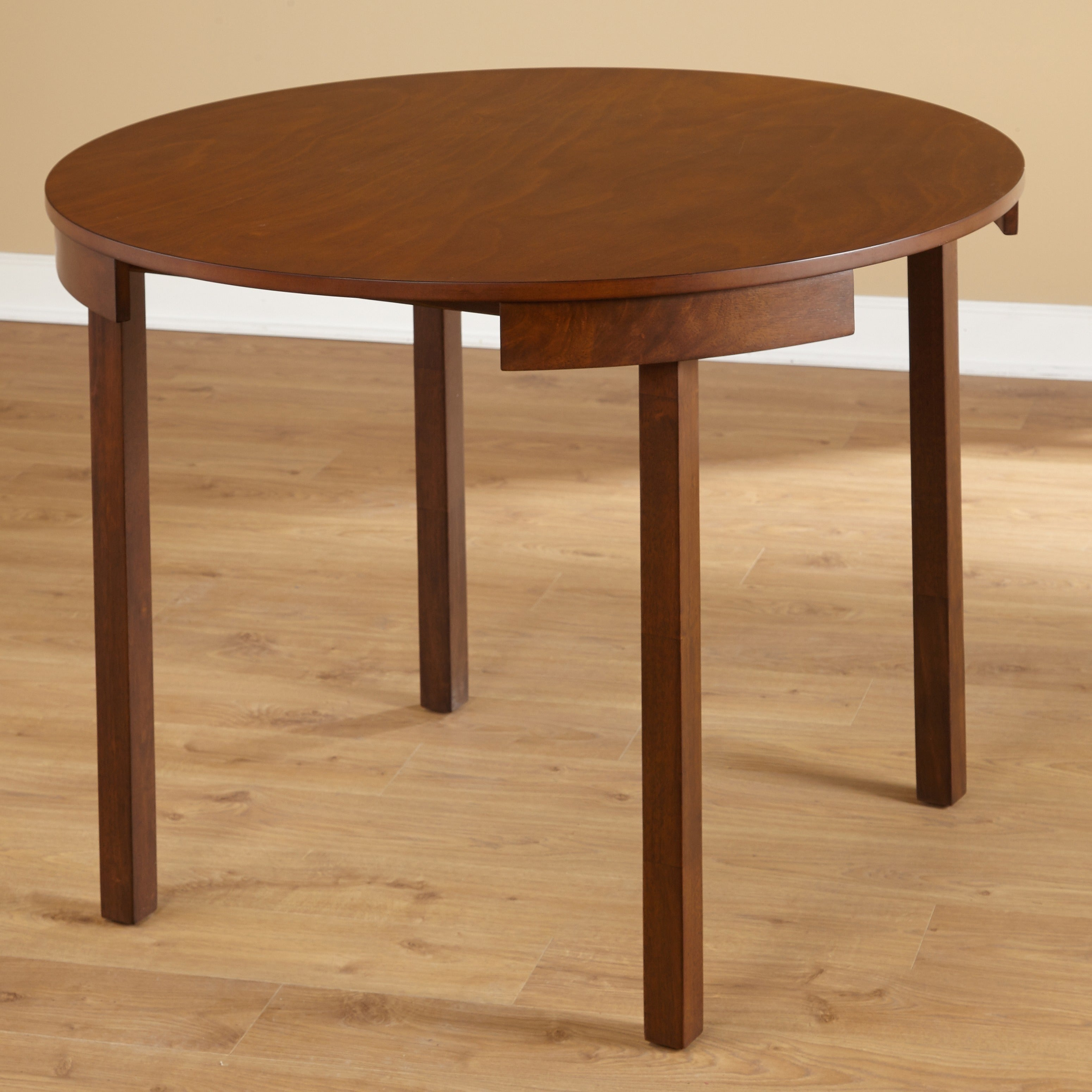 Small Apartment Kitchen Table: Compact Round Dining Set Table Wood Small Apartment