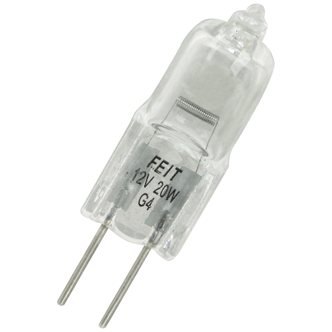 FEIT Electric BPQ20T3 20 Watt Halogen Quartz T3 Bi Pin Li...