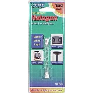 Feit Electric BPQ150T3/CL/S 150 Watt Double Ended T3 Halogen Quartz Light Bulbs