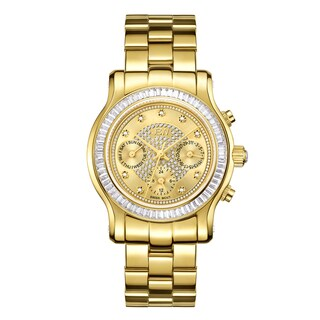 Jbw Woman's Gold-Plated Stainless Steel Diamond Laurel Watch