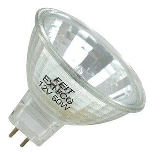 Feit Electric BPEXN/CG/3 50W Halogen MR16 Reflector Covered Glass 12 Volt Bulb 3Pk