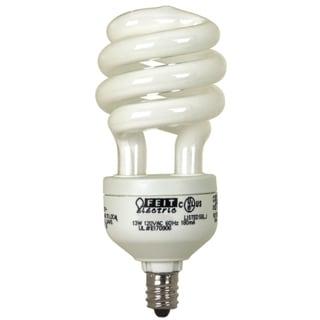 Feit Electric BPESL13TC/BW/2 13 Watt White Candelabra Base Compact Fluorescent Light Bulb