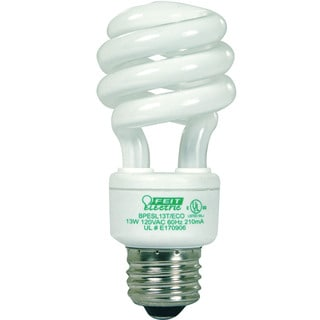 Feit Electric BPESL13T/ECO 13 Watt Compact Fluorescent Light ECOBulb Plus Mini Twist