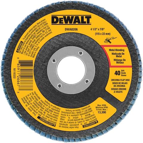 "DeWalt DWA8206 4.5"" 40 Grit Flap Disc"