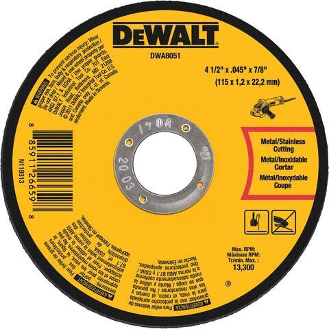 """DeWalt DWA8051 4.5"""" Cutting Wheel"""