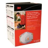 3M 8511HB1-C Sanding & Fiberglass Respirators With Cool Flow Valve 10Ct