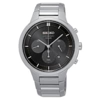 Seiko Men's  Solar Chronograph  Black Dial 100 Meter Watch