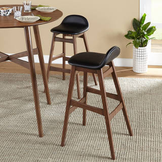 simple living axel mid century modern 30 inch bar stool set of 2 - Low Dining Room Table