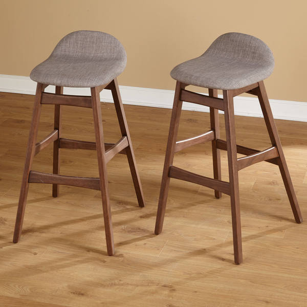 simple living axel midcentury modern 30inch bar stool set of 2 free shipping today