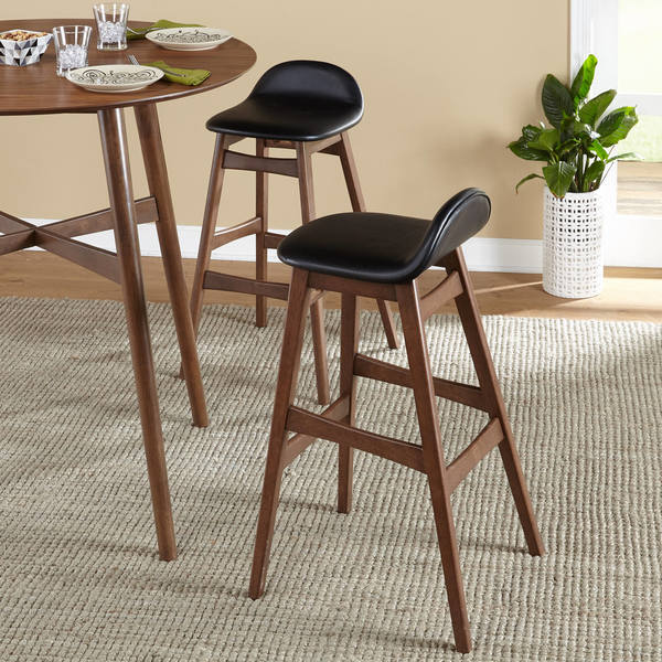 simple living axel mid century modern 30 inch bar stool set of 2 free shipping today. Black Bedroom Furniture Sets. Home Design Ideas