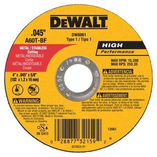 """DeWalt DW8061 4"""" Cutting Wheel"""