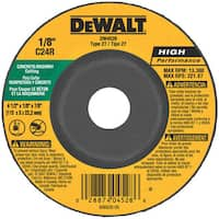 "Dewalt DW4528 5"" 7/8"" Arbor Masonry Grinding Wheels Depressed Center"