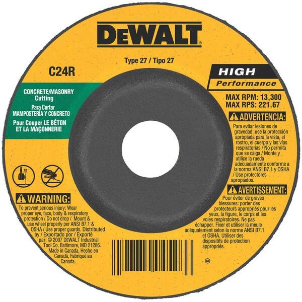 Shop Dewalt Dw4429 4 Quot 5 8 Quot Arbor Masonry Grinding Wheels