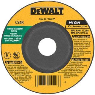 "Dewalt DW4429 4"" 5/8"" Arbor Masonry Grinding Wheels Depressed Center"
