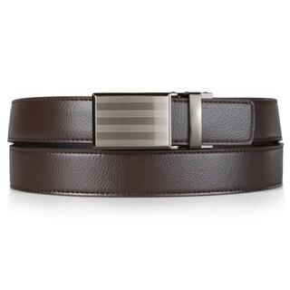 Vance Co. Men's Genuine Leather Adjustable Ratchet Belt|https://ak1.ostkcdn.com/images/products/11635363/P18568990.jpg?_ostk_perf_=percv&impolicy=medium