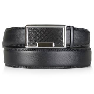 Vance Co. Men's Genuine Leather Adjustable Ratchet Belt|https://ak1.ostkcdn.com/images/products/11635364/P18568991.jpg?impolicy=medium