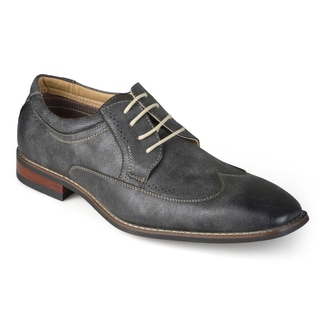 Vance Co. Men's Square Toe Wing Tip Lace-up Oxford Dress Shoes